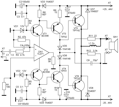 Схема лампового усилителя на октальных пентодах схема входного усилителя низкочастного частотомера схема входного.