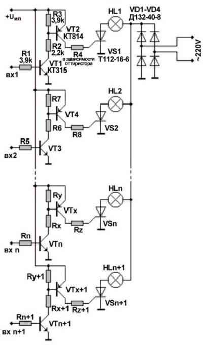 схема тиристорных силовых