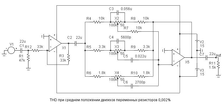 схема темброблока с