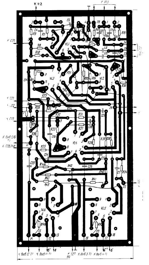 печатной платы лампового