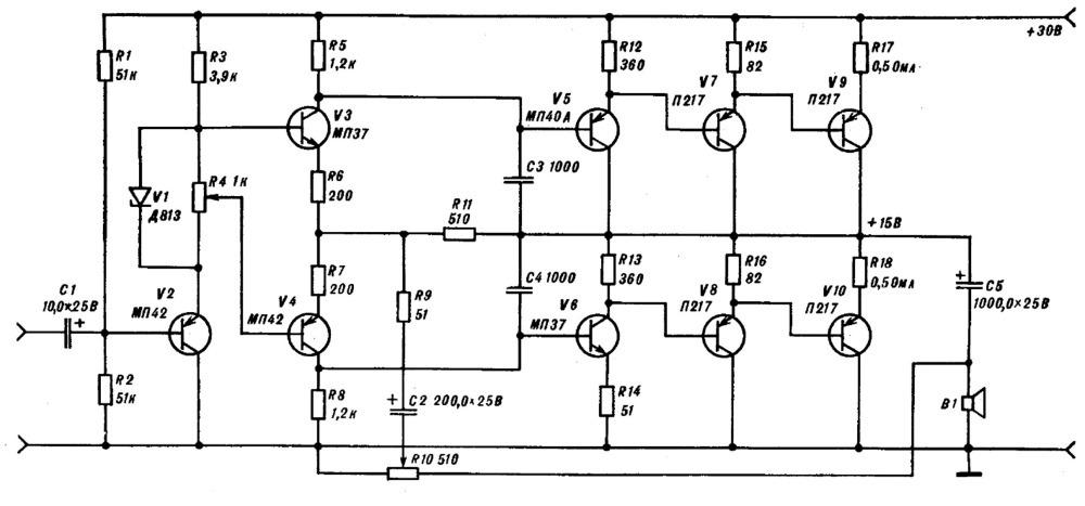 12 Вт на транзисторах П217