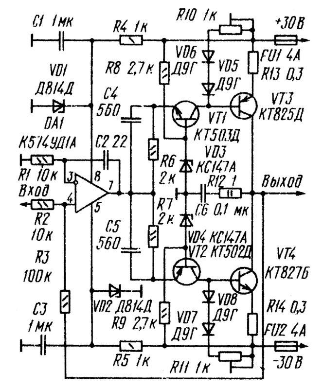 Номинальный диапазон частот, Гц .  10...20000.  Простой усилитель мощности 90Вт Основные технические характеристики.